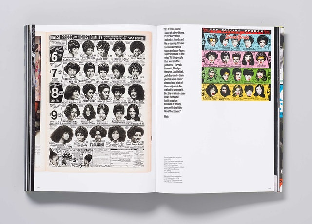 """Ebony magazine advertisement, left, that inspired the design of the """"Some Girls"""" cover, right."""