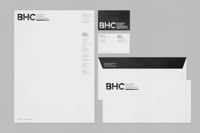 The BHC identity features letterforms that appear to be painted.