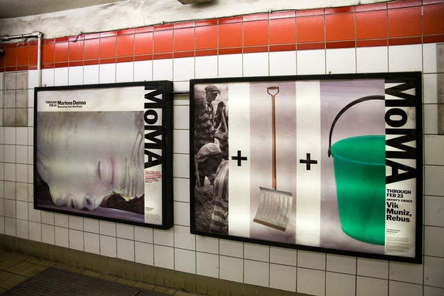 Installation in the Fifth Avenue and 53rd Street subway station across the street from the museum.