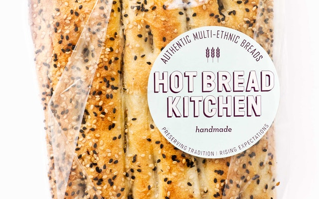 label featuring the new identity set in the typeface wilma - Hot Bread Kitchen