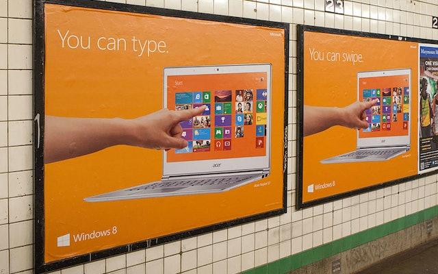 Subway ads.