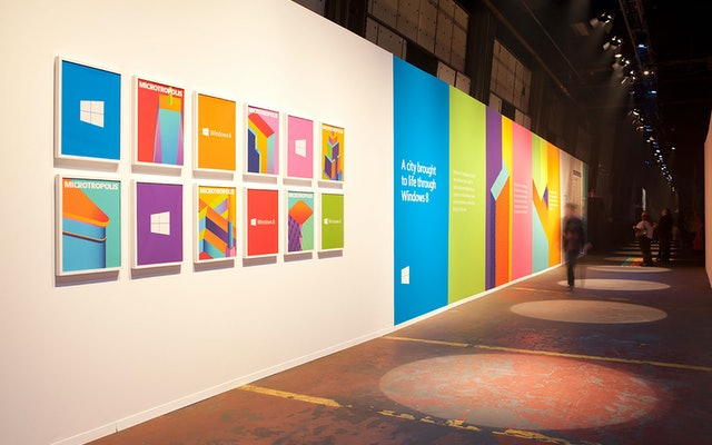 Windows 8 launched at Microtropolis, a public exhibition designed by Mother New York at Pier 57.