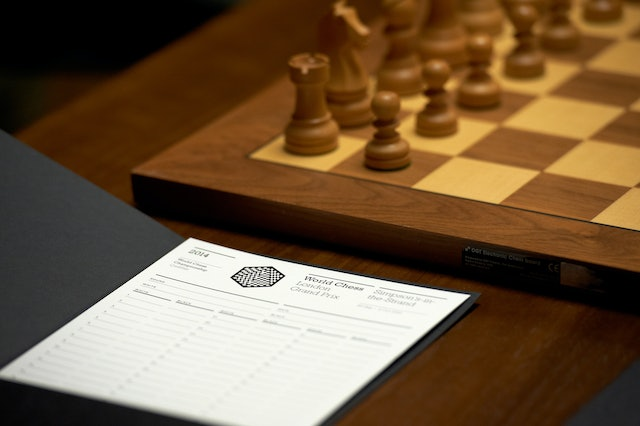 Chess Score Card at the World Chess London Grand Prix