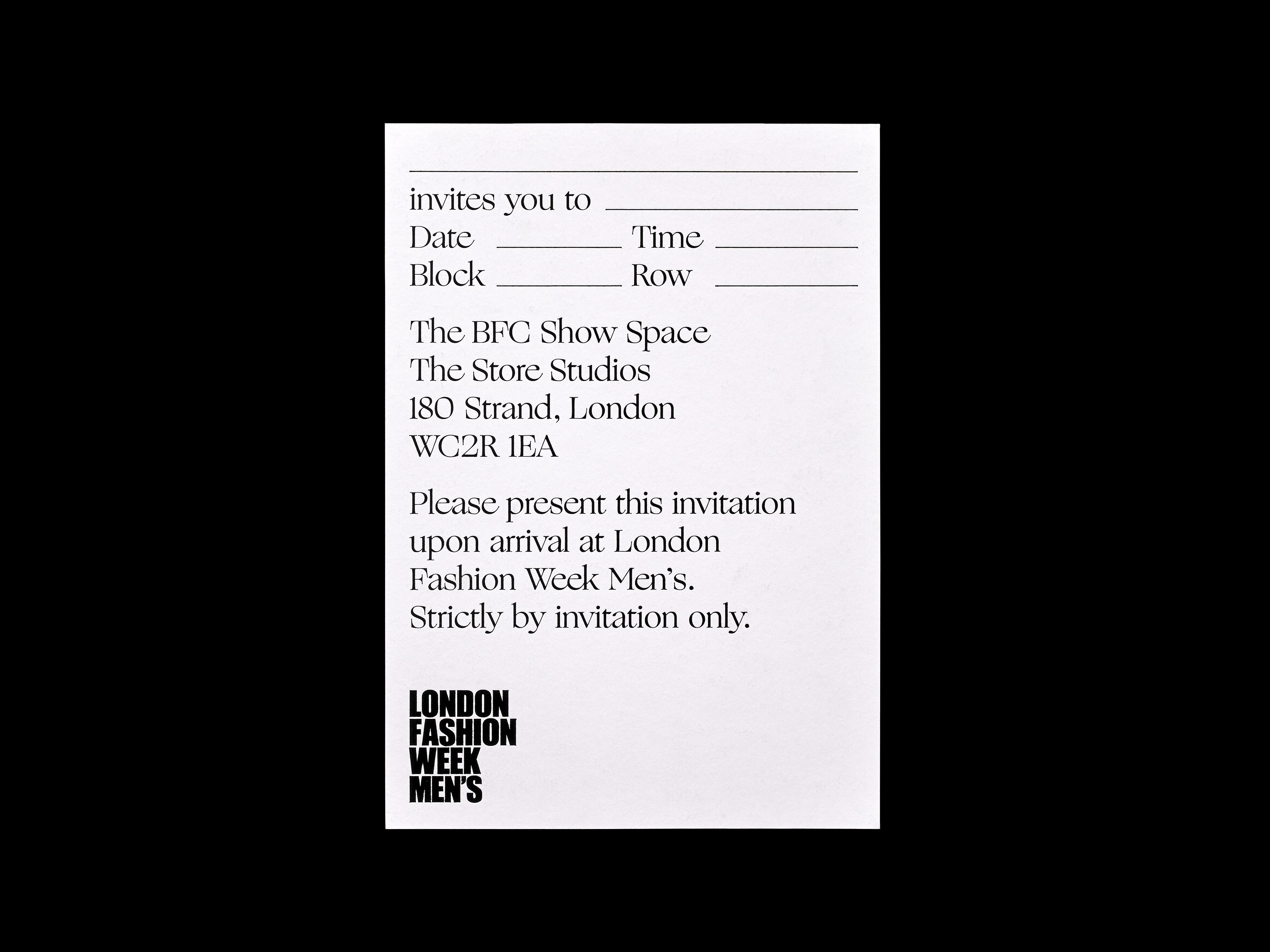 London Fashion Week AW18 Pentagram