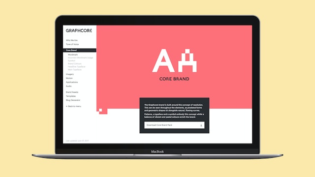 Digital brand guidelines – core brand