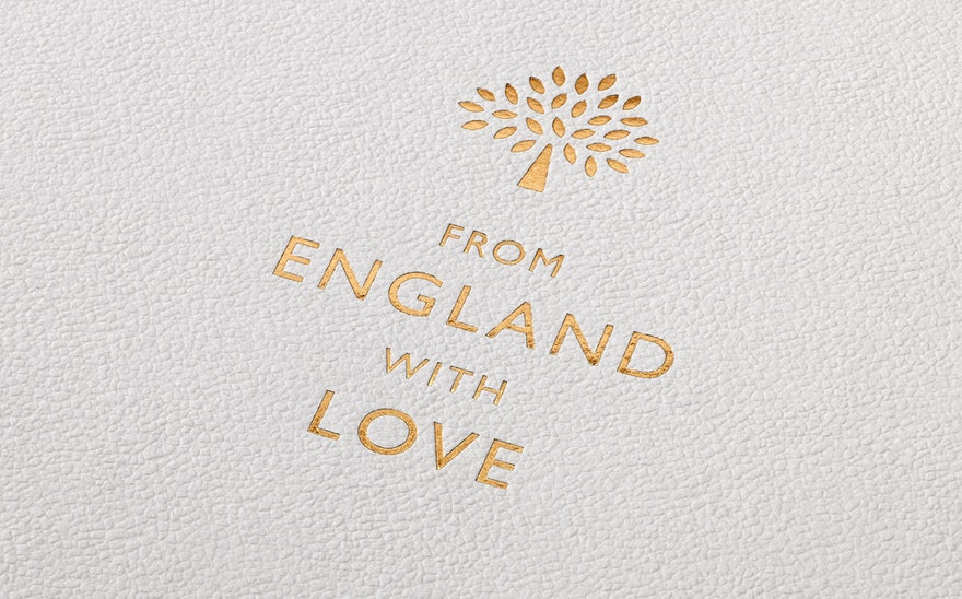 fefe8aec838 From England with Love is a new 48-page booklet by Mulberry that was  designed, edited and written in collaboration with Pentagram. The book  tells the story ...