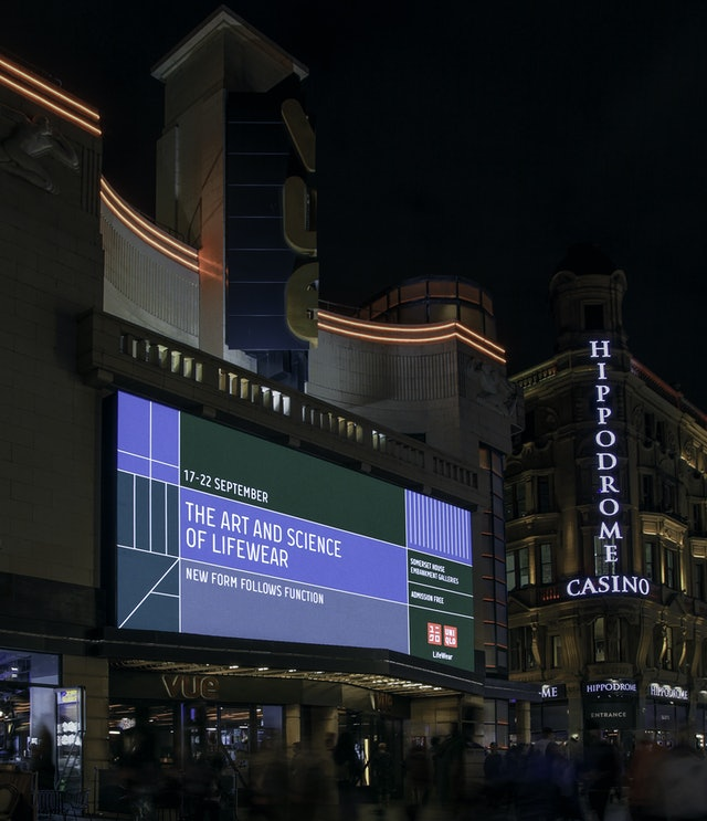 Leicester square advertisement