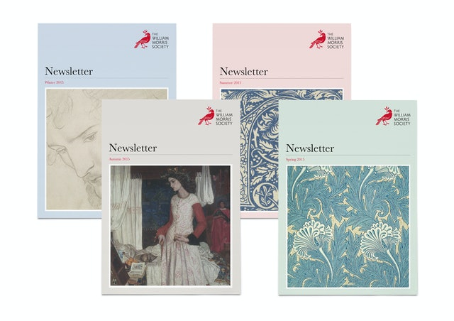 Each of the society's quarterly newsletters have been given their own seasonal colour