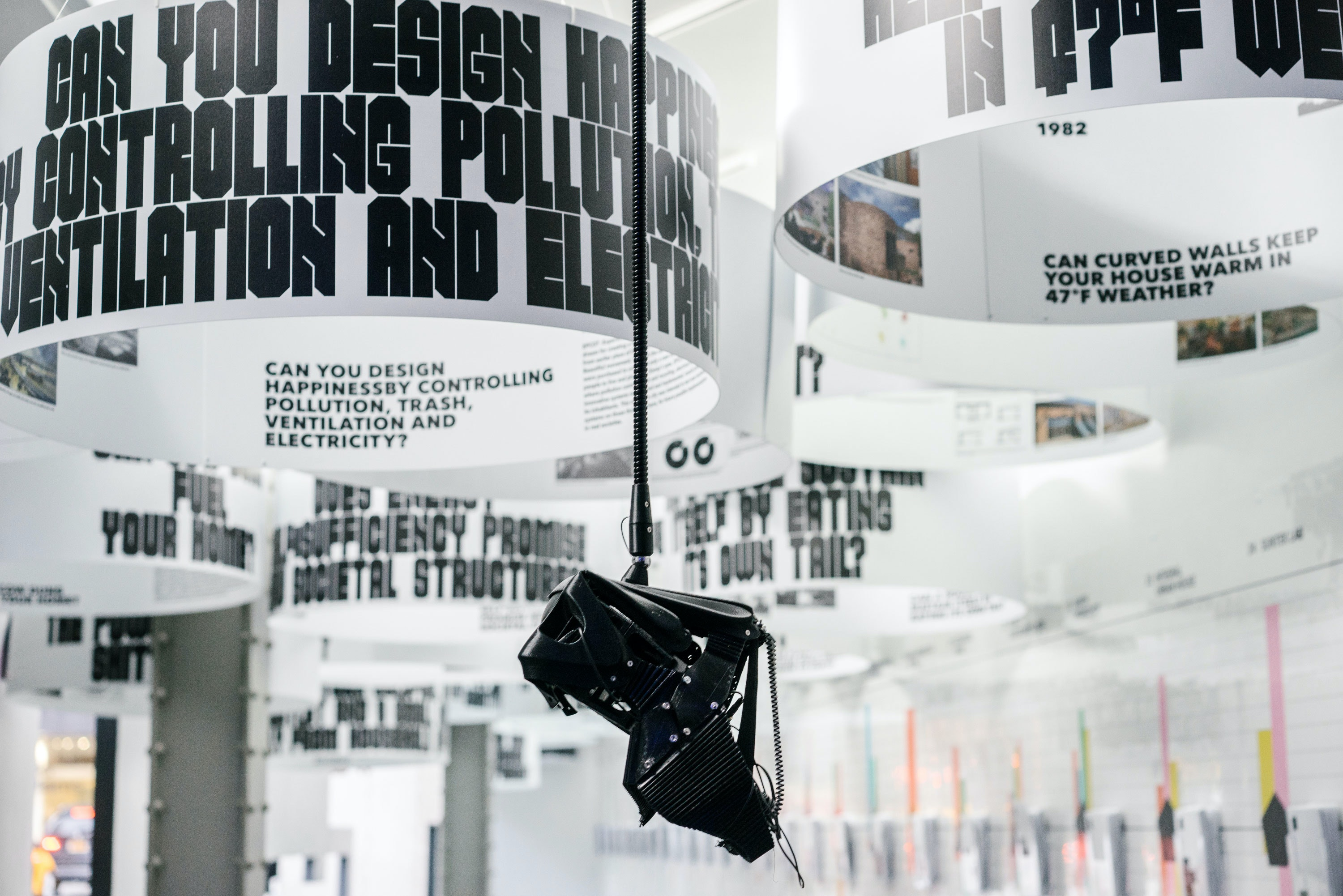 Exhibition design and graphics for a show about closed systems at the Storefront for Art and Architecture complete with its own custom typeface. & Closed Worlds\u0027 \u2014 Story \u2014 Pentagram