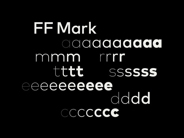 FF Mark, the typeface of the identity.