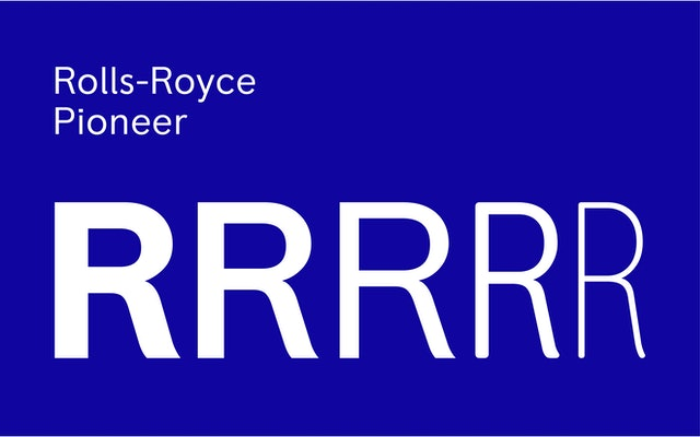 Characteristics of the Badge informed the design of a custom font called Rolls-Royce Pioneer