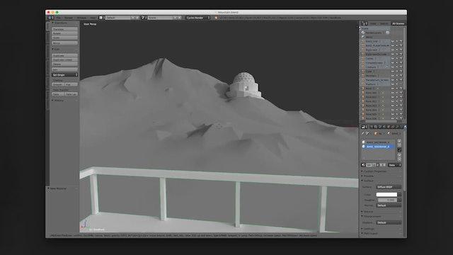 Main display box scene in 3d software