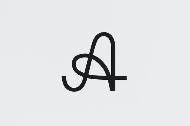 The logomark, based on a letter 'A' found in one of Jane's letters