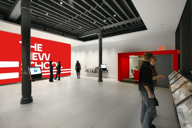 Design for environmental graphics at The New School.