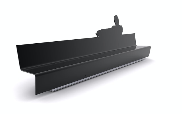 The style and elegance of the show inspired the design of the bench.