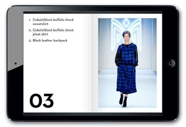 Digital look book.