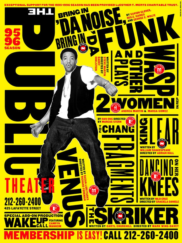 Poster for Bring in 'Da Noise, Bring in 'Da Funk from 1995.