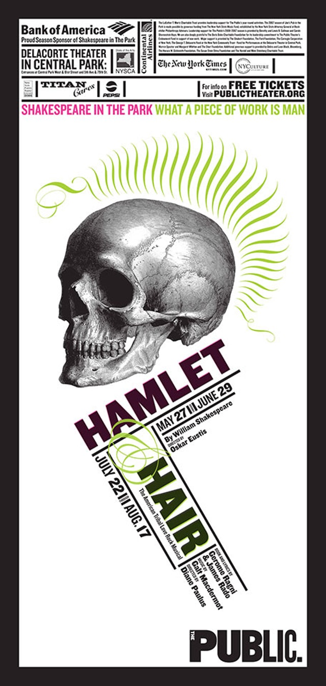 Shakespeare in the Park poster 2008.
